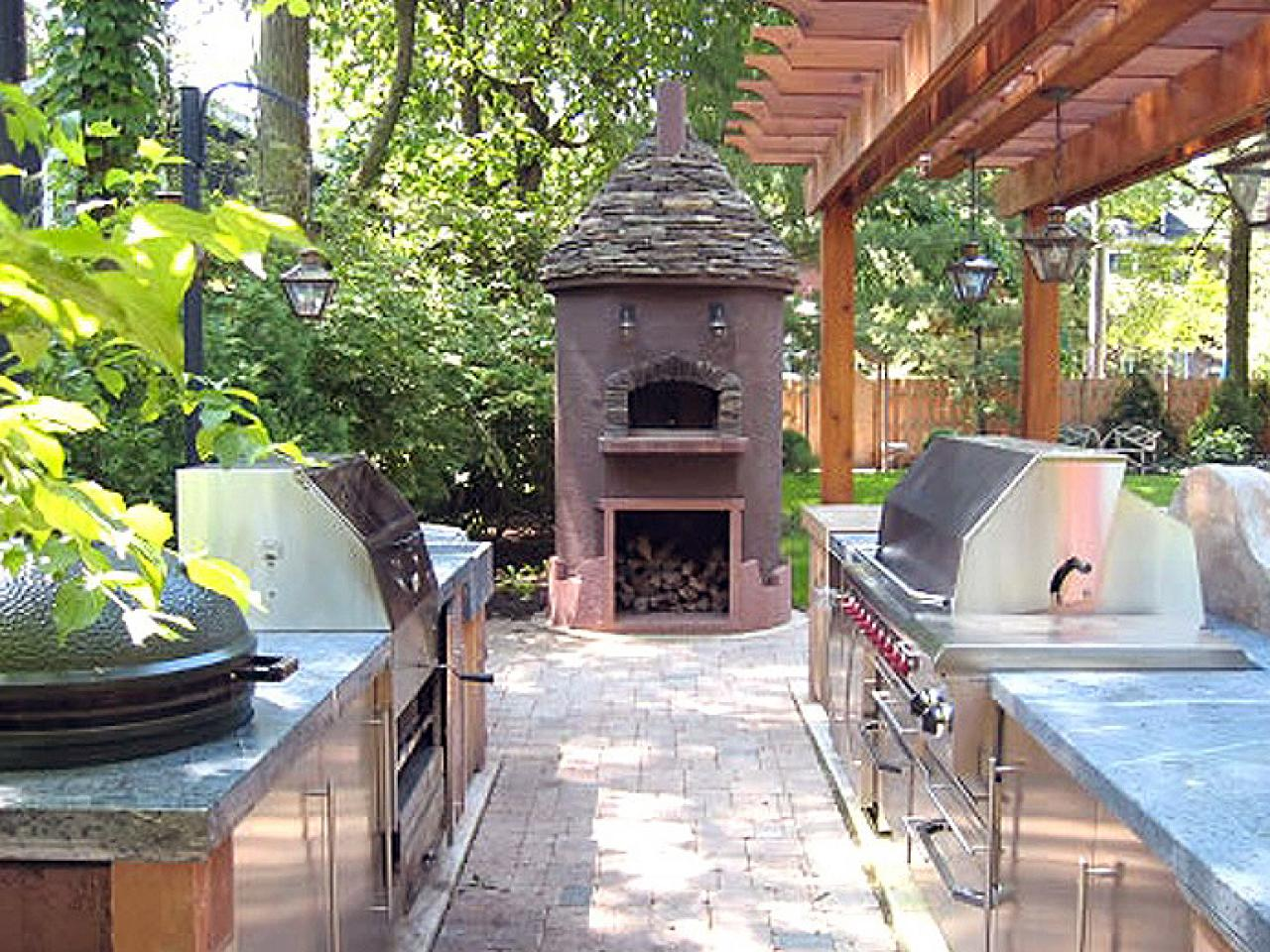 Outdoor Kitchen Bar Ideas Pictures Tips  Expert Advice HGTV - Outdoor kitchen designs with smoker