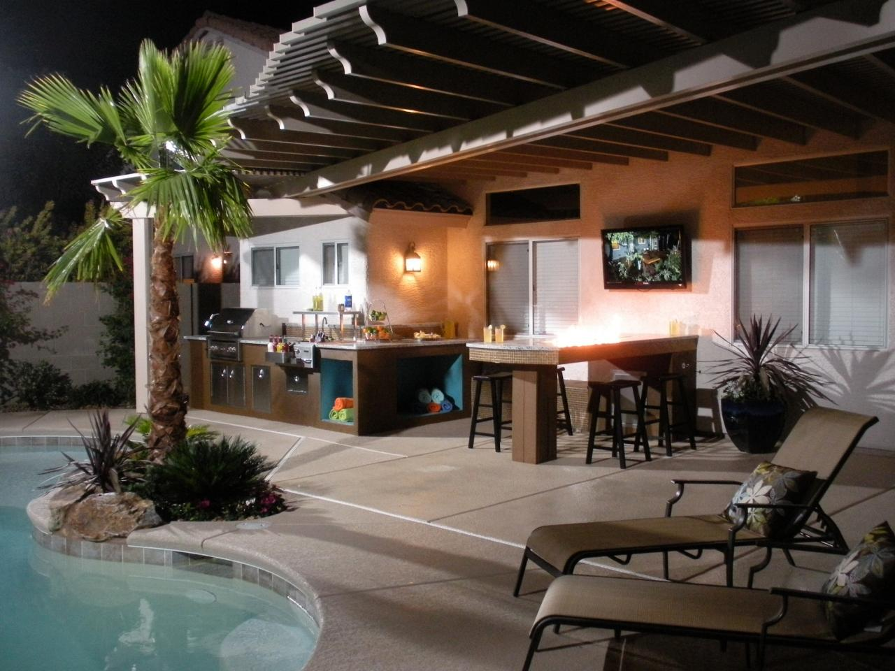 Pool And Outdoor Kitchen Designs Outdoor Kitchen Design Ideas Pictures Tips & Expert Advice  Hgtv