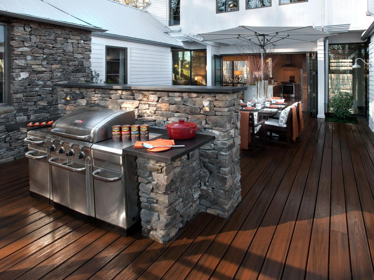 stainless steel outdoor kitchens pictures tips ideas hgtv