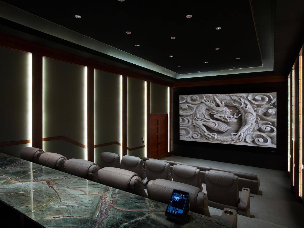 Home theater wiring pictures options tips ideas hgtv Home cinema interior design ideas