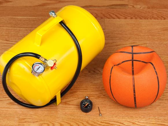 Flat Basketball and Air Tank