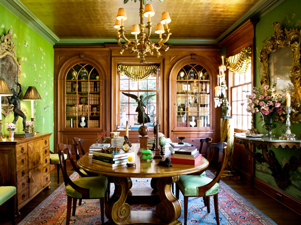 CI Timothy Corrigan green victorian dining room no. Reclaim Wasted Space  Dining Rooms  Garages  Attics and Closets   HGTV