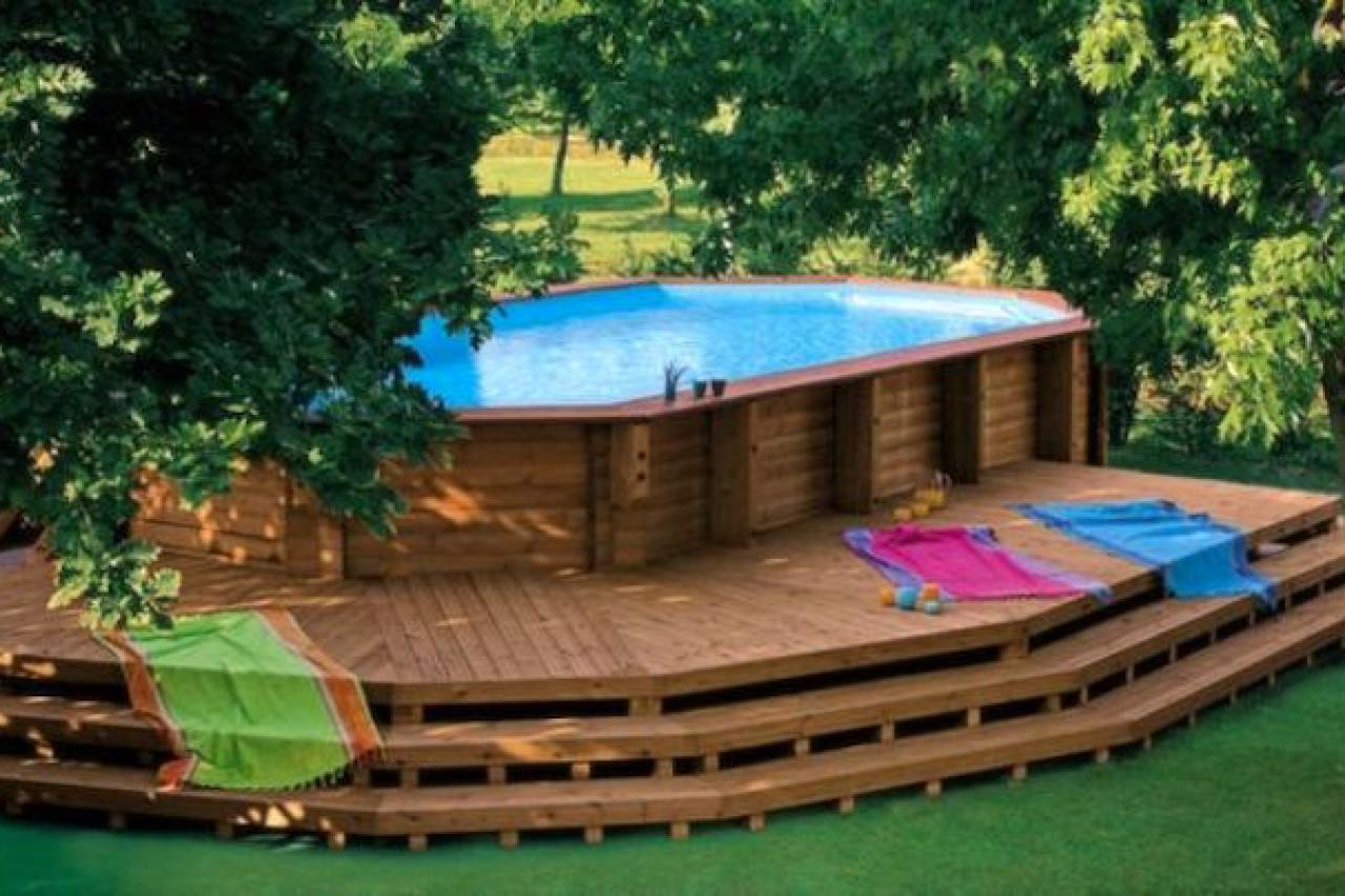 17 ways to add style to an above ground pool hgtv 39 s for Club piscine above ground pools prices