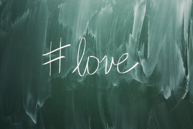 Love hashtag symbol
