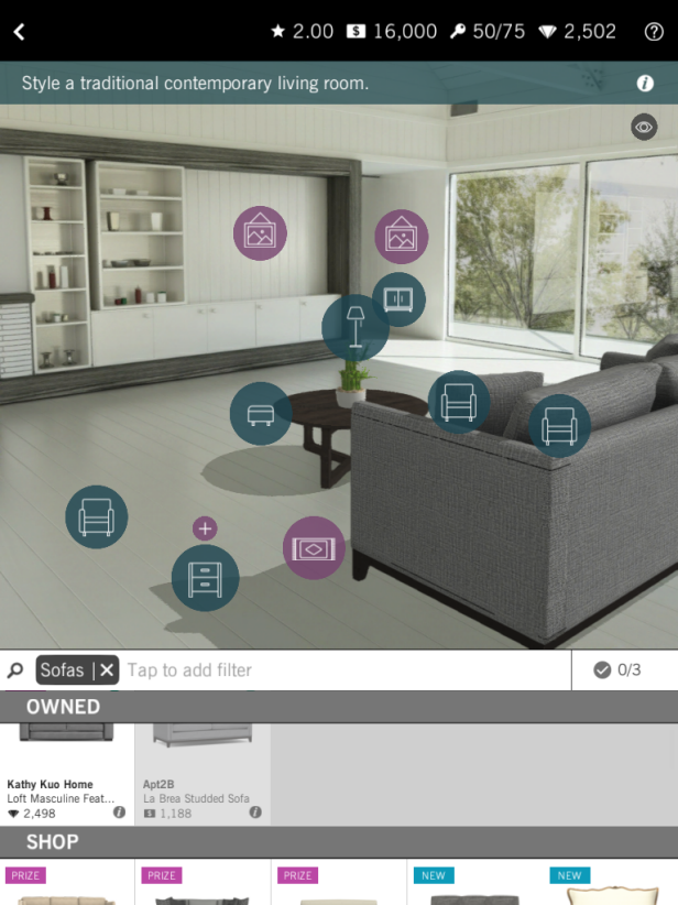 Be an interior designer with design home app hgtv 39 s for House layout app