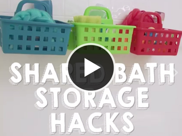 Family Bathroom Storage Hacks: On Facebook