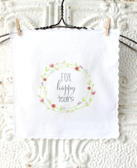 Bridesmaid Gift Idea: Larkspur + Linen Handkerchief