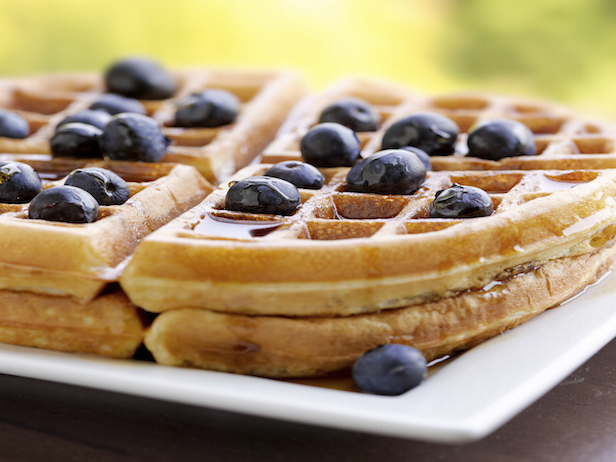 Wedding Waffles With Blueberries