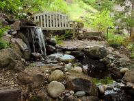 backyard river rock water feature