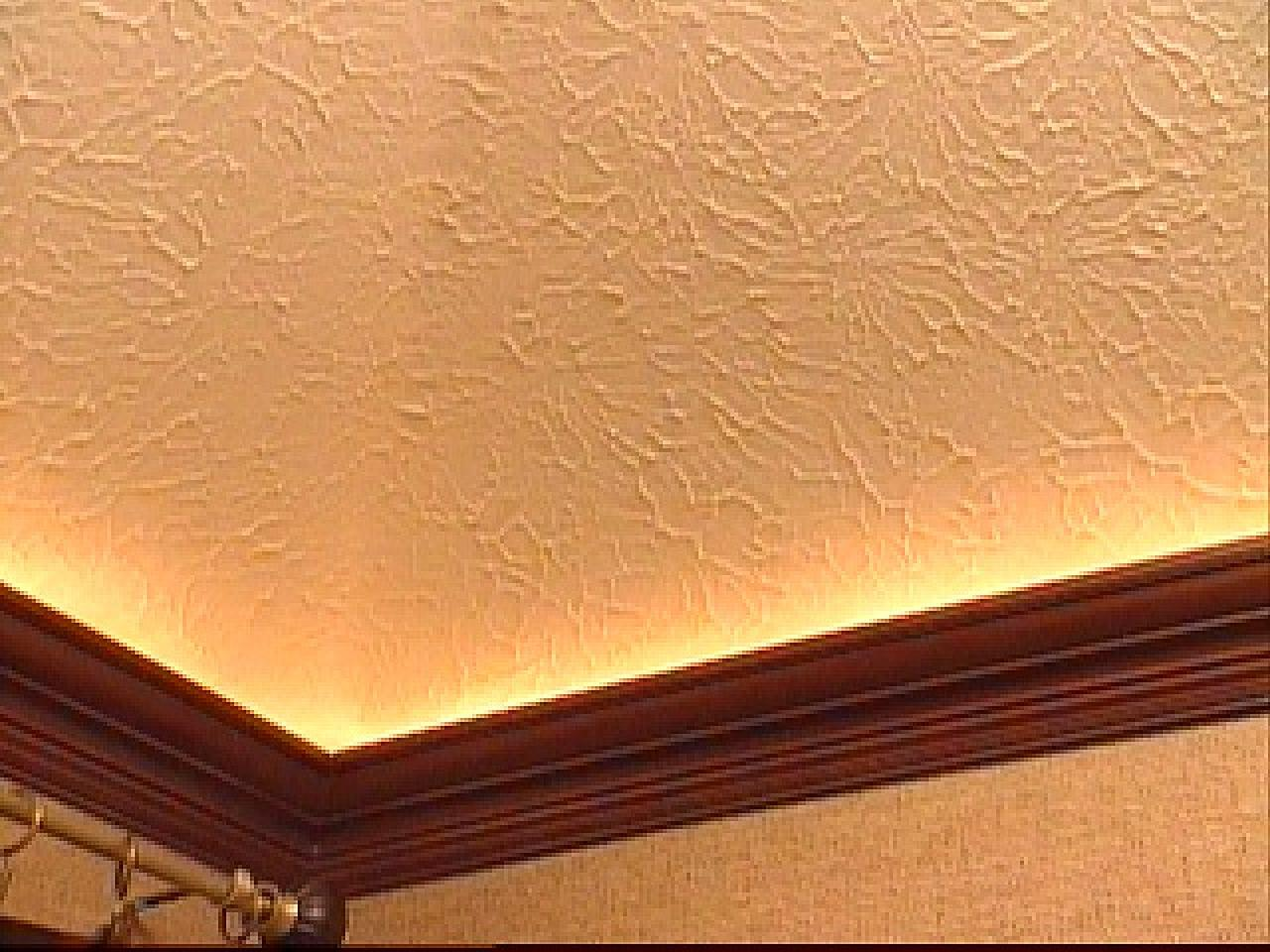 How To Mount Crown Molding To A Tray Ceiling Hgtv