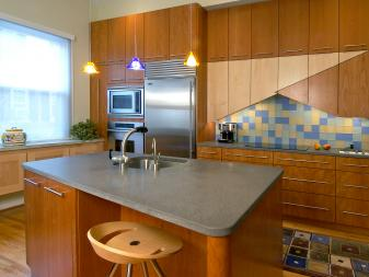 stylish modern kitchen blends materials