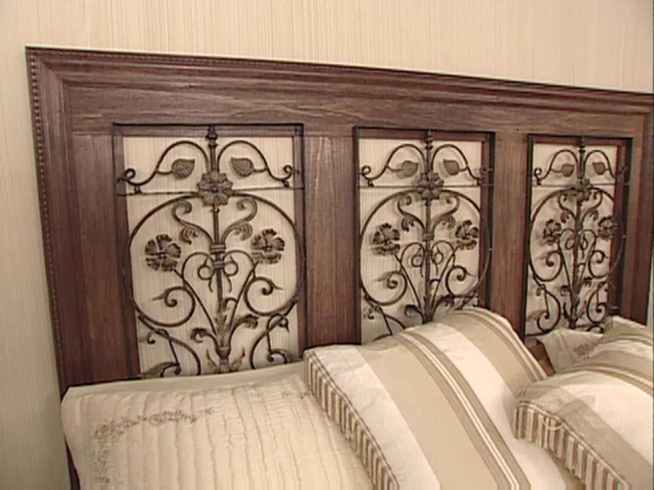 Wrought Iron Headboard Home Decor