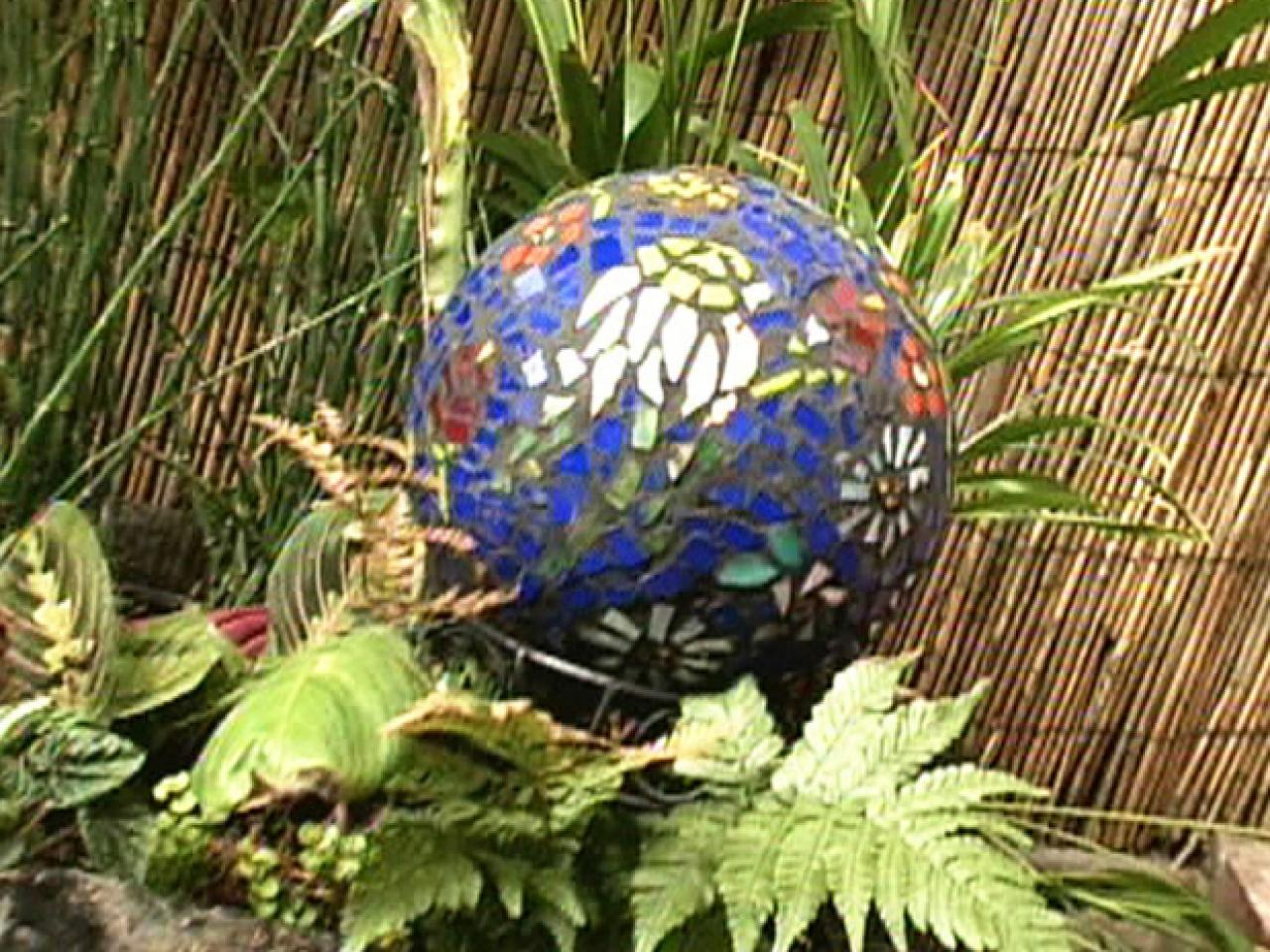 How to Make a Contemporary Garden Gazing Ball HGTV