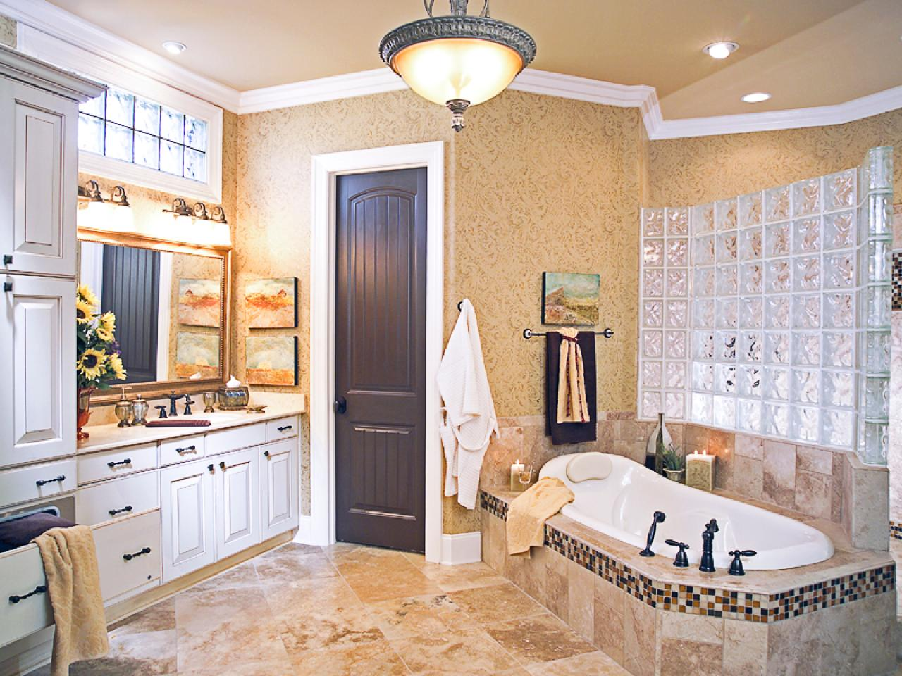Spanish style bathrooms pictures ideas tips from hgtv for Bathroom decorating tips