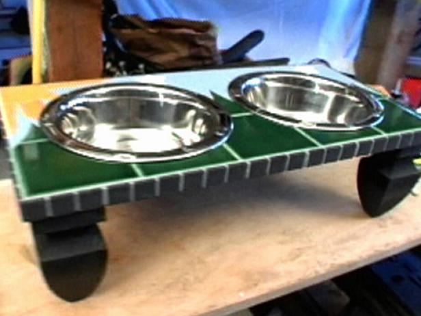 How To Make A Mosaic Pet Feeder Table Hgtv