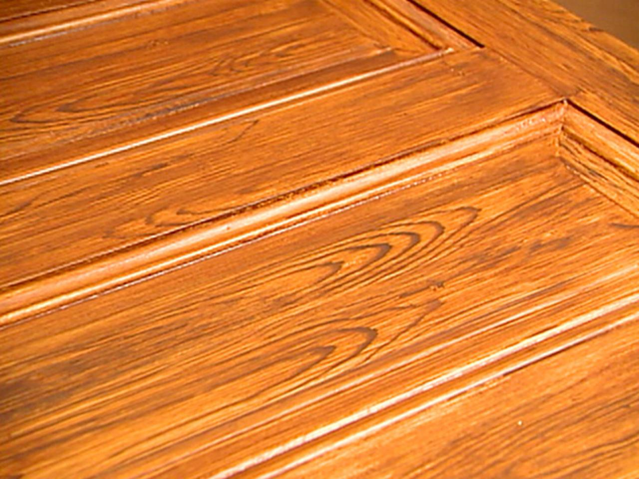 Decorative paint technique woodgraining instructions hgtv Wood colour paint
