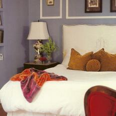 Blue-Gray Traditional Bedroom