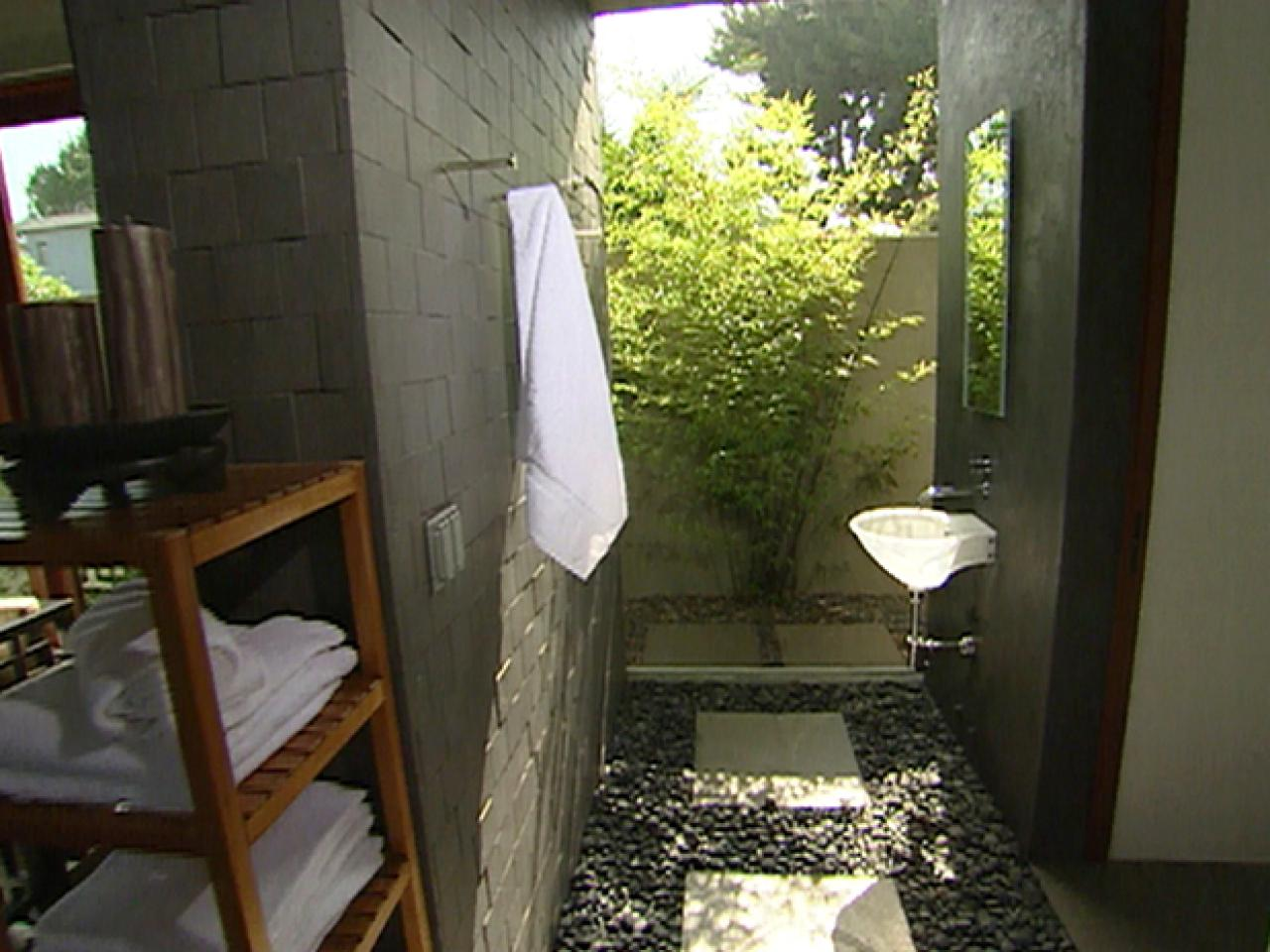 Indoor Outdoor Bathroom Hgtv