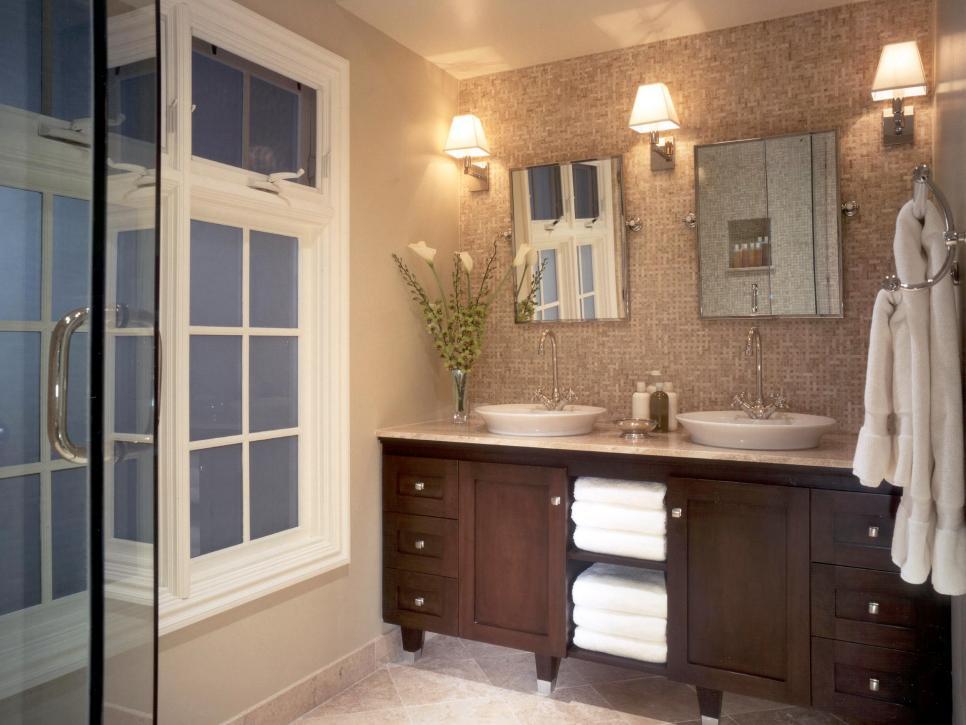 Bathroom backsplash beauties hgtv - Bathroom vanity backsplash or not ...