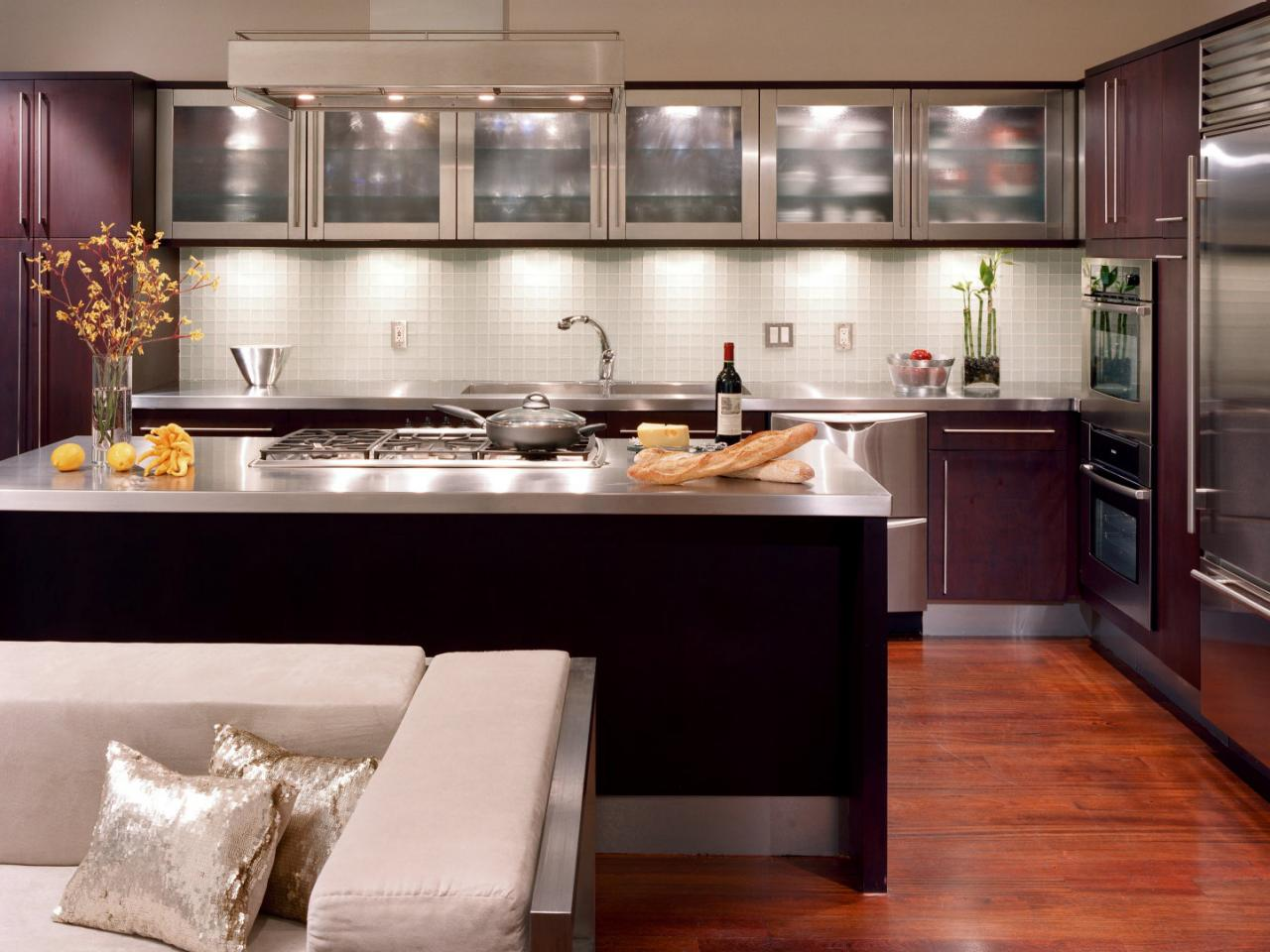 Tags: kitchens  metallic photos  modern style ...