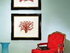 Red Armchair and Artwork