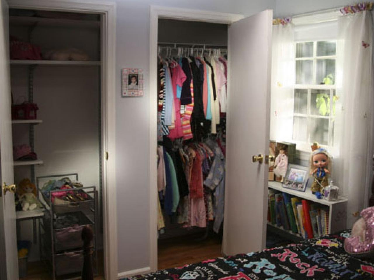 How to replace sliding closet doors hgtv for How to design a room