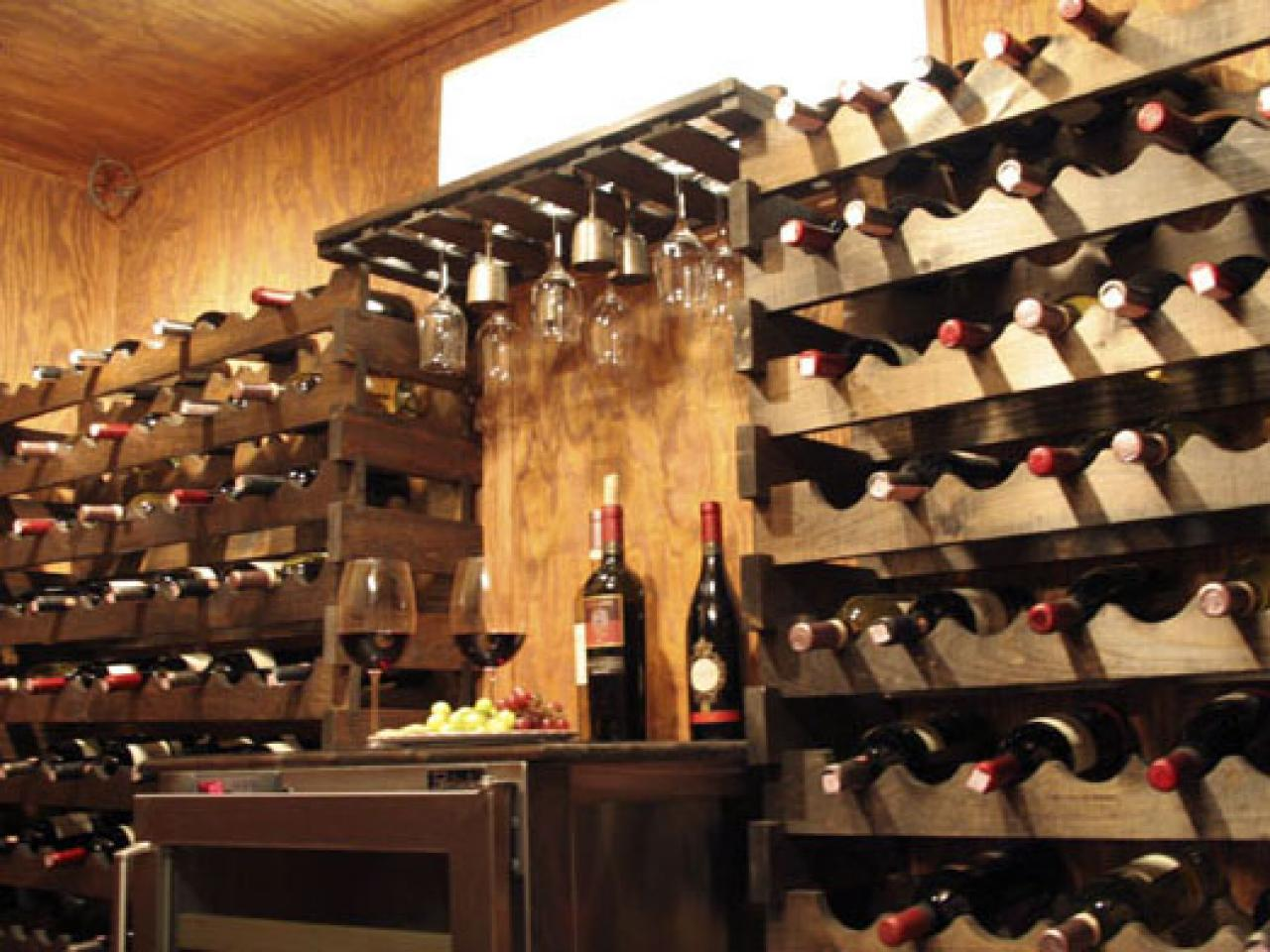 How to build a wine cellar hgtv for Building wine cellar