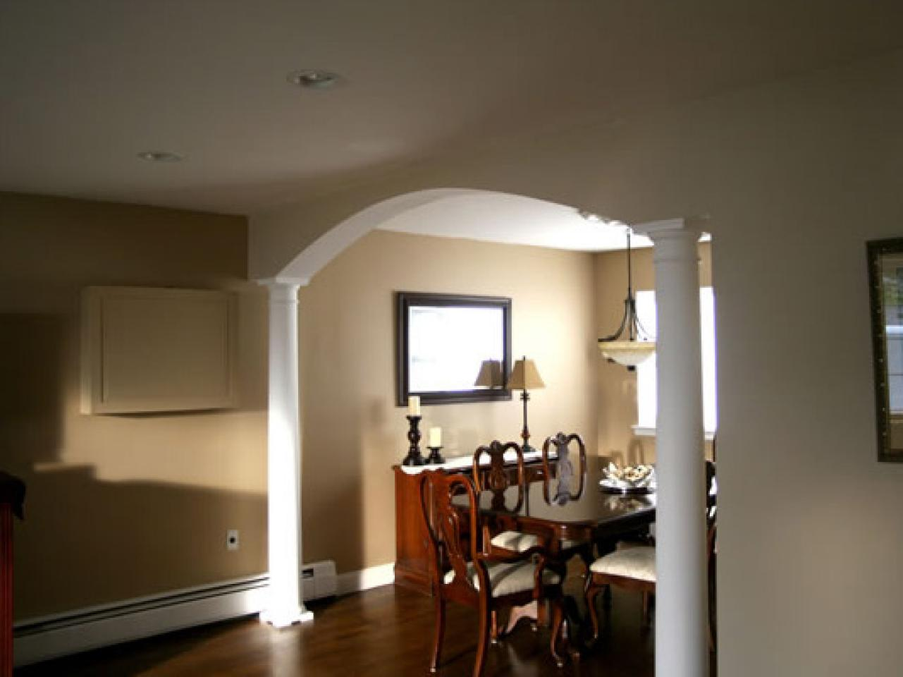 how to build a dining room arch hgtv