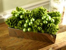 Green Centerpiece for a Holiday Table