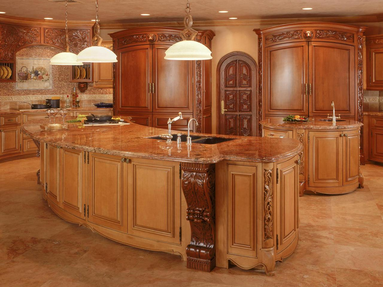 Amazing kitchens kitchen ideas design with cabinets for Kitchen island cabinet plans