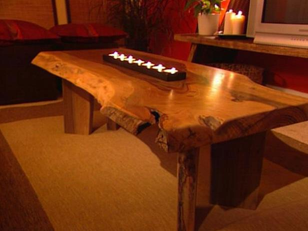 Build A Walnut Slab Coffee Table Hgtv