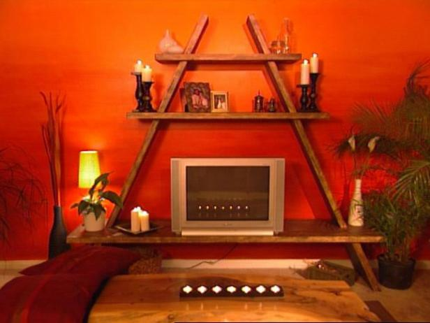 how to building an a frame entertainment center hgtv. Black Bedroom Furniture Sets. Home Design Ideas
