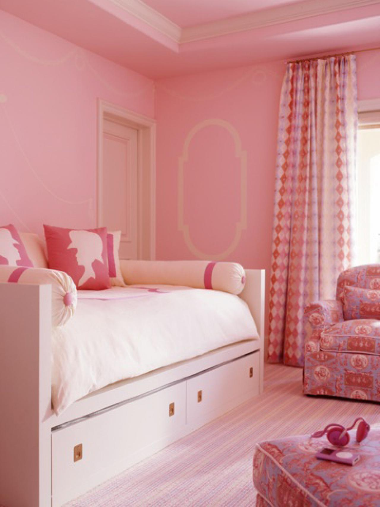 Pink bedroom paint colors - Tone On Tone