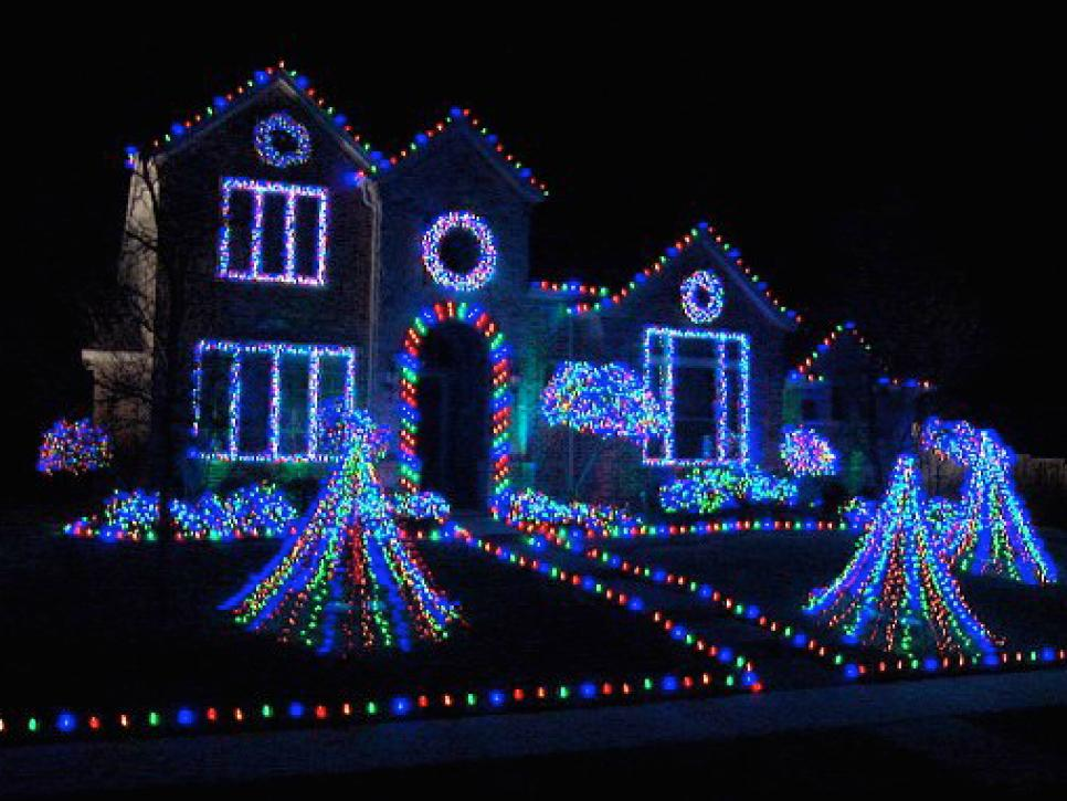 Christmas Houses Decorated Cool Deck The House With Lots Of Lights  Hgtv Decorating Inspiration
