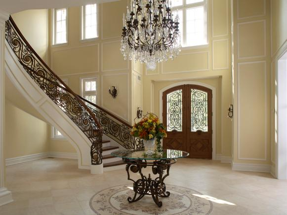 elegant two story foyer