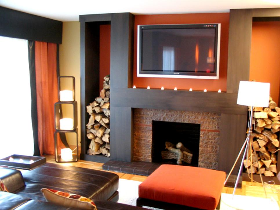 Inspiring fireplace design ideas for summer hgtv Family room design ideas with fireplace