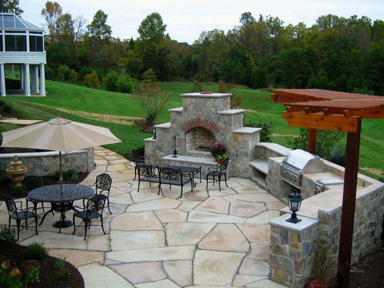 Patio ideas outdoor spaces patio ideas decks for Porch and patio designs