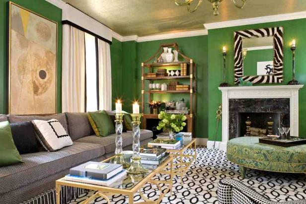 Naturally sophisticated green hgtv Sophisticated paint colors for living room