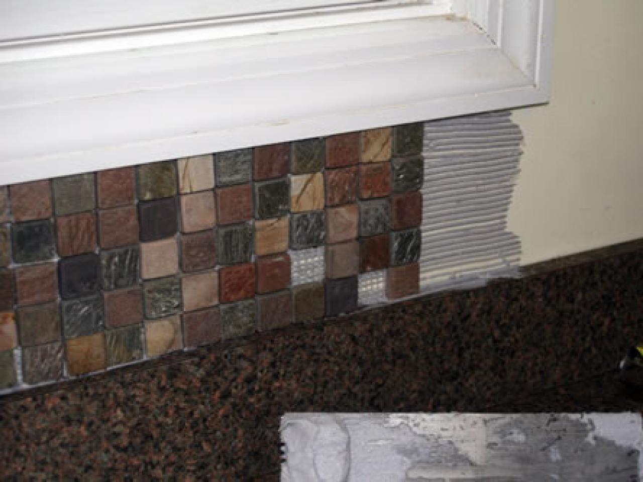 How Much To Install Backsplash how to install a marble tile backsplash Steps
