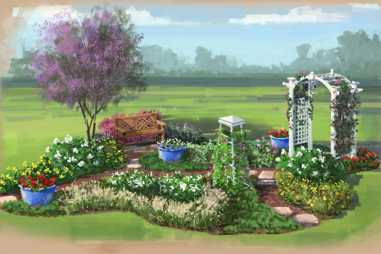 Color garden for florida hgtv for Garden landscape plan