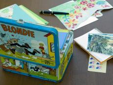 Vintage Lunchbox for Stationery Storage