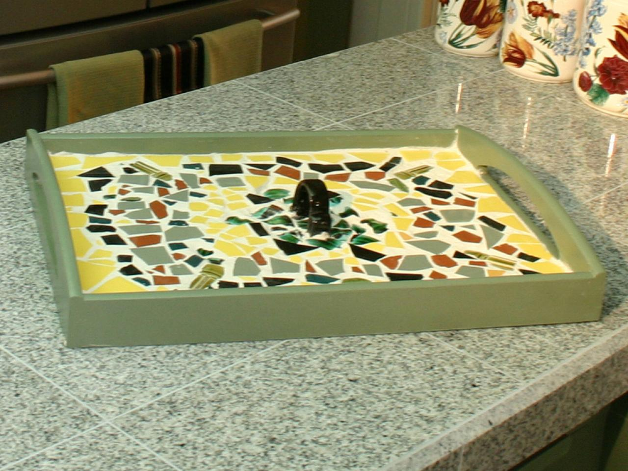 How To Make A Mosaic Serving Tray HGTV