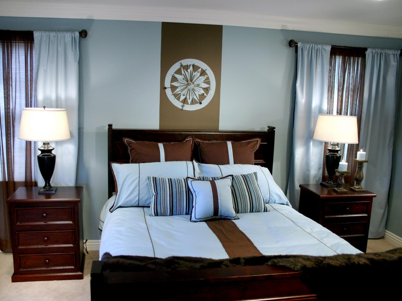 Bedroom makeover a modern master hgtv Brown color bedroom