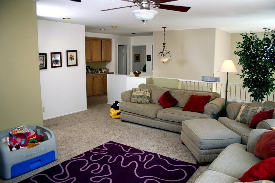 Bold Family Room Makeover