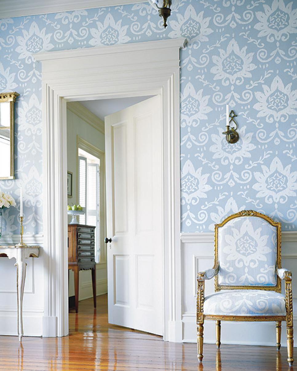 Contemporary wallpaper ideas hgtv for Modern french country design