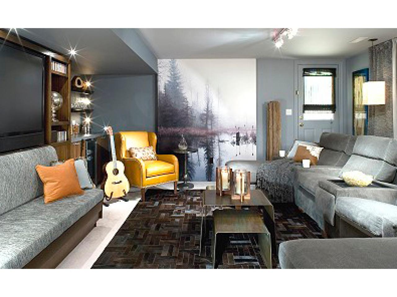 Men 39 s den redesign hgtv for Redesign living room ideas