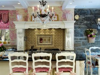 Ornate and Formal Eat-In Kitchen