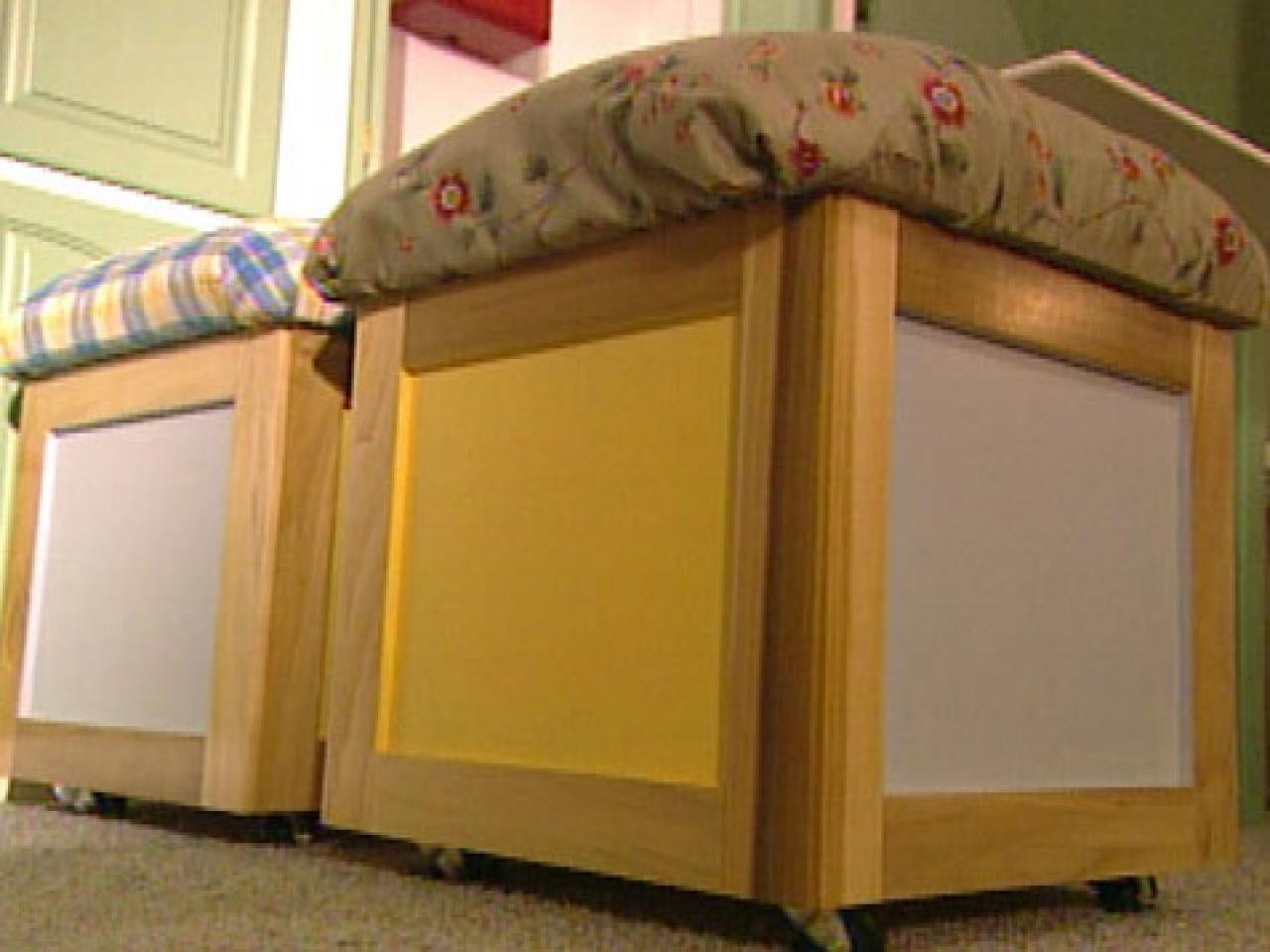 Build A Movable Storage Seat Hgtv
