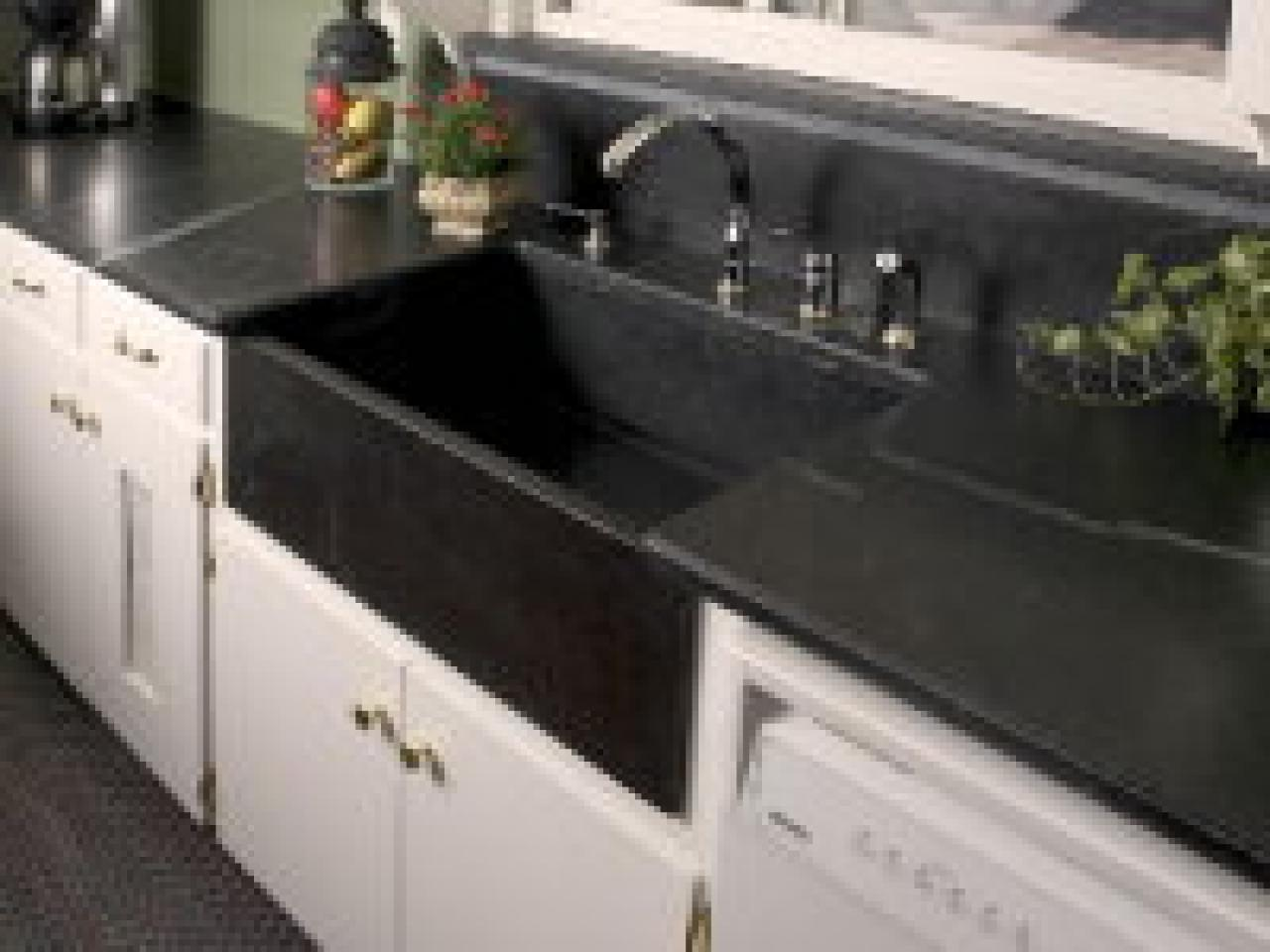 Granite Stone For Kitchen Is A Stone Sink Right For Your Kitchen Hgtv