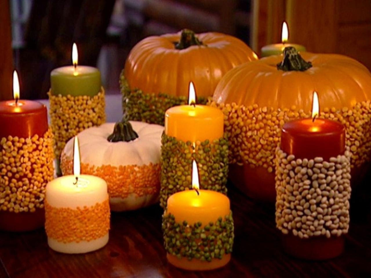 Festive fall tablescape hgtv Thanksgiving table decorations homemade
